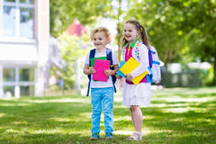 Children going back to school, year start Royalty Free Stock Photography