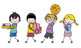 Children going to school Stock Photos