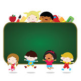Children going to school Royalty Free Stock Photography
