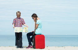 Children going for vacation Royalty Free Stock Photo