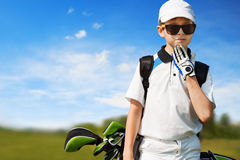 Children golf school Royalty Free Stock Photos