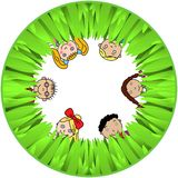 Children And Grass Stock Photo