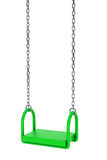 Children green playground swing Stock Image