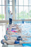 Children group  at swimming pool Royalty Free Stock Photos