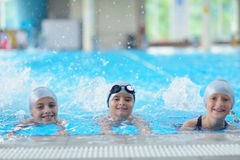 Children group  at swimming pool Stock Photography