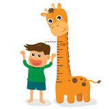 Children grow taller Stock Photo
