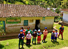 Children of the Guambiano Indians, Colombia royalty free stock image