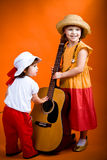 Children with guitar Royalty Free Stock Photography