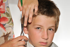 Children haircut Royalty Free Stock Photography