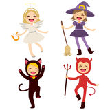 Children Halloween Costumes Stock Photos