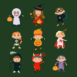 Children in Halloween costumes Stock Image