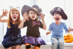 Children on Halloween Royalty Free Stock Photos