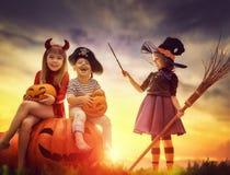 Children on Halloween Stock Images