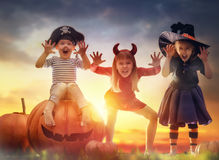 Children on Halloween Royalty Free Stock Images