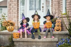 Children on Halloween royalty free stock image