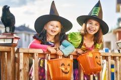 Children on Halloween royalty free stock photos