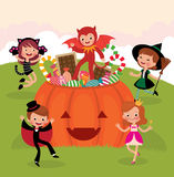 Children at Halloween party Stock Photo