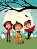 Children on Halloween party Royalty Free Stock Photography