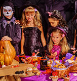 Children on Halloween party Royalty Free Stock Photo
