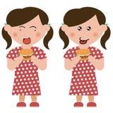 Children, hamburger. On children,  design material Stock Photo