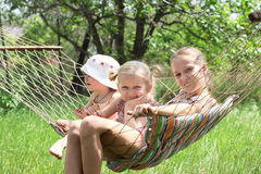 Children in a hammock Stock Photography