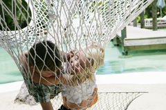 Children in hammock Royalty Free Stock Photos