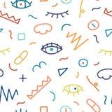Children hand drawn seamless pattern. Royalty Free Stock Image
