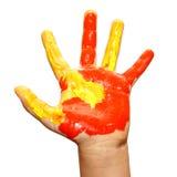 Children hand paint Stock Images