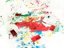 Children hand painting playground Royalty Free Stock Photos