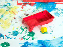 Children hand painting playground Royalty Free Stock Image