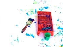 Children hand painting playground Stock Images