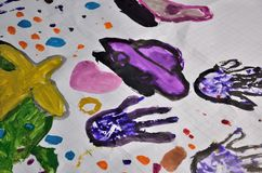 Children hand painting Royalty Free Stock Photo