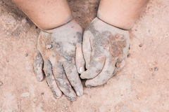 Children hand is stained Stock Images