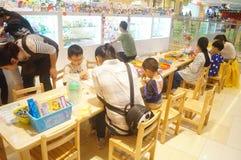Children hands-on activities Stock Images