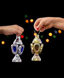 Children Hands with Ramadan Lantern Stock Image