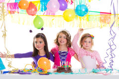 Children Happy Birthday Party Girls Group