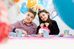 Children happy birthday party Royalty Free Stock Photos