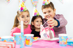 Children happy birthday party Royalty Free Stock Photography