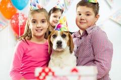 Children happy birthday party Stock Image