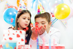 Children happy birthday party Royalty Free Stock Image