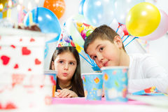 Children happy birthday party Stock Photography