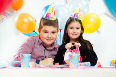 Children happy birthday party Stock Images