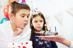Children happy birthday party Royalty Free Stock Images
