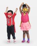 Children Happy Cheerful Hero Costume Concept Stock Photo