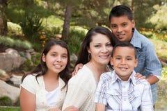 children happy mother park στοκ εικόνες