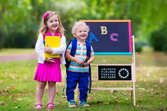 Children happy to be back to school Stock Photography