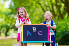 Children happy to be back to school Stock Image