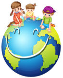Children and happy world Stock Images