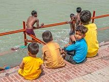 Children in Haridwar Stock Image