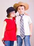 Children with hats Stock Photography